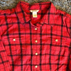 Duluth Red Plaid Flannel XL